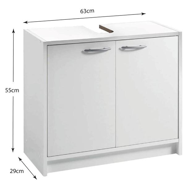 Umývadlová skrinka SMASH biela 4