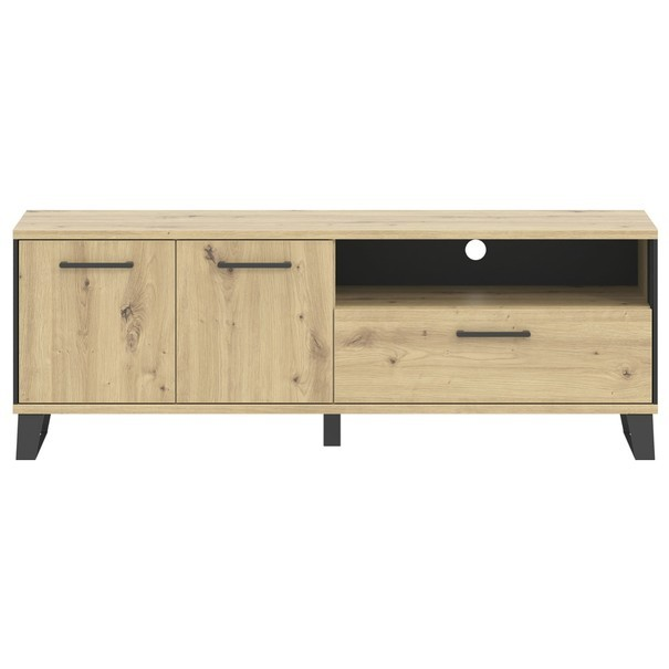 TV stolek SOFT LT1 dub artisan/černá 3