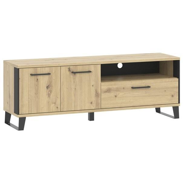TV stolek SOFT LT1 dub artisan/černá 4