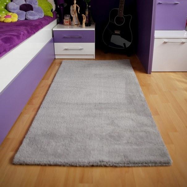 Koberec SOFT PLUS šedá, 80x250 cm 2
