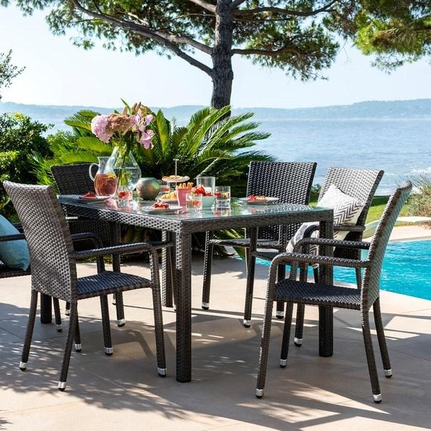Zahradní židle  SOLESINO tmavě šedá 2