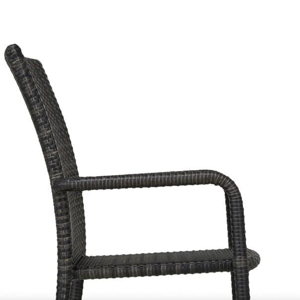 Zahradní židle  SOLESINO tmavě šedá 8