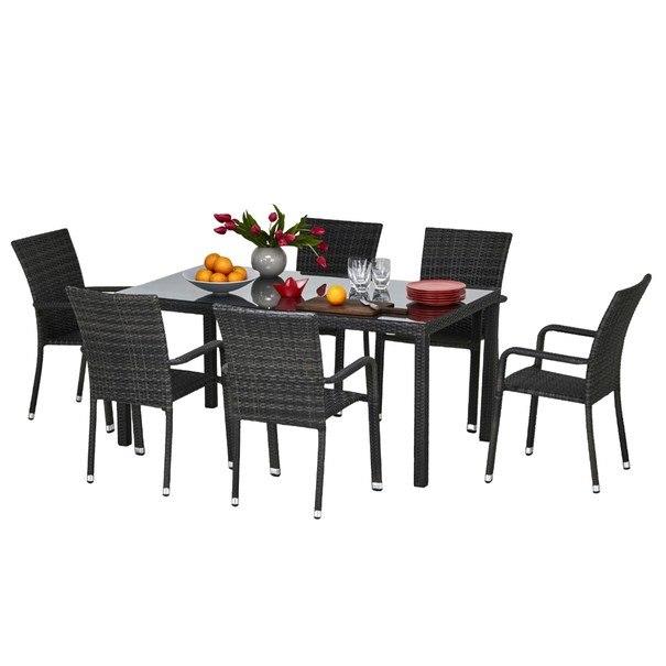 Zahradní židle  SOLESINO tmavě šedá 9