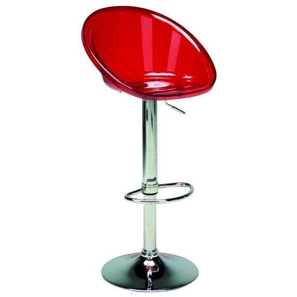 Barová židle SPHERE červená, chrom 2