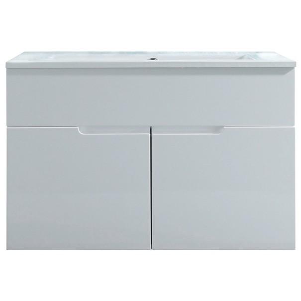 Umyvadlová skříňka s umyvadlem  SPICE bílá vysoký lesk 3