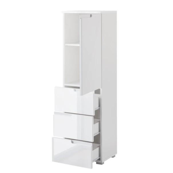 Polovysoká skříňka SPICE bílá vysoký lesk 4
