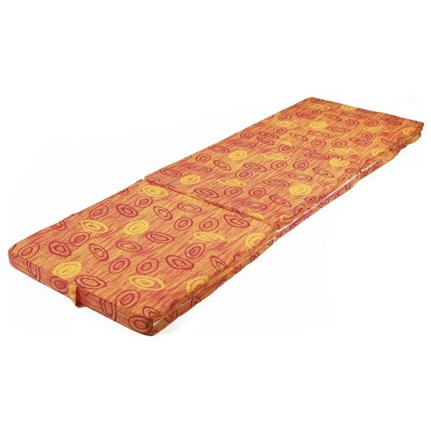 Skládací matrace SPIRALY oranžová 1
