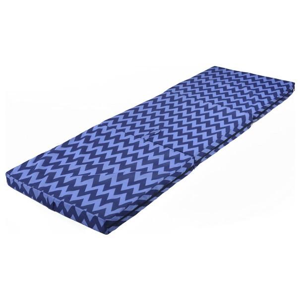 Skládací matrace SPIRALY tmavě modrá 1