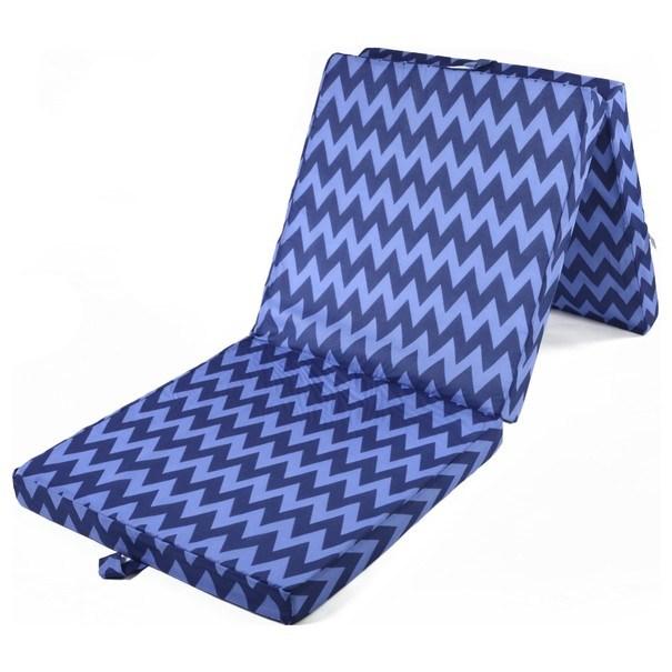 Skládací matrace SPIRALY tmavě modrá 3