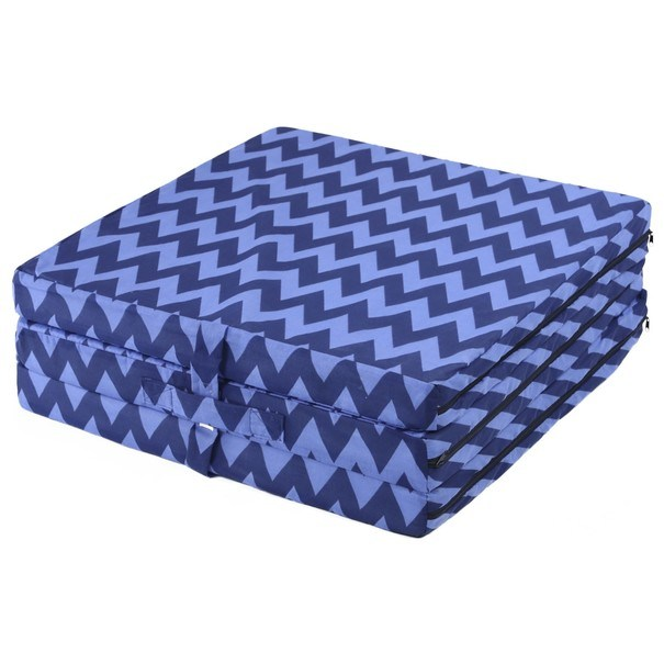 Skládací matrace SPIRALY tmavě modrá 4