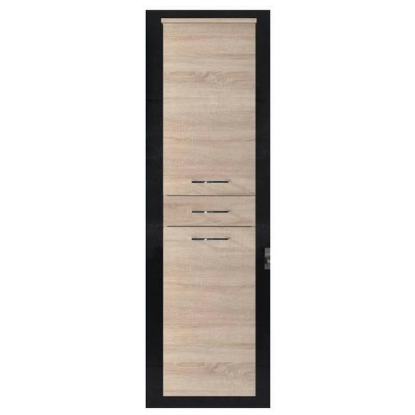 Vysoká koupelnová skříň SPLASH dub sonoma 1