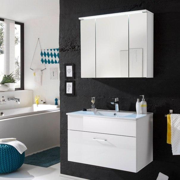 Zrcadlová skříňka SPLASH bílá/zrcadlo 2