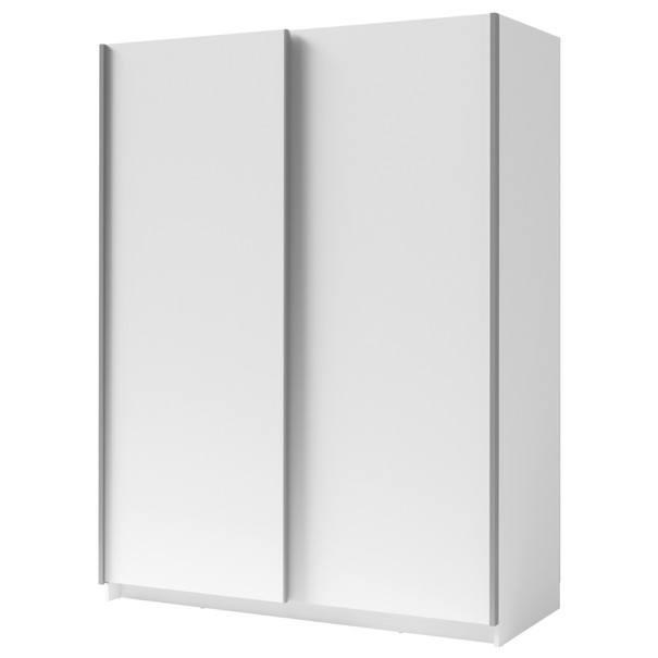 Šatní skříň SPLIT bílá, šířka 150 cm 1