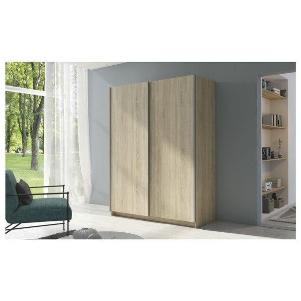 Šatní skříň SPLIT dub sonoma, šířka 150 cm 2