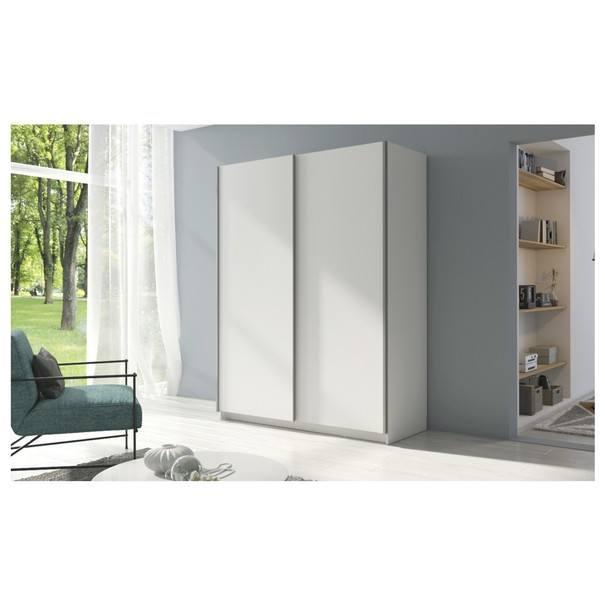 Šatní skříň SPLIT bílá, šířka 180 cm 2