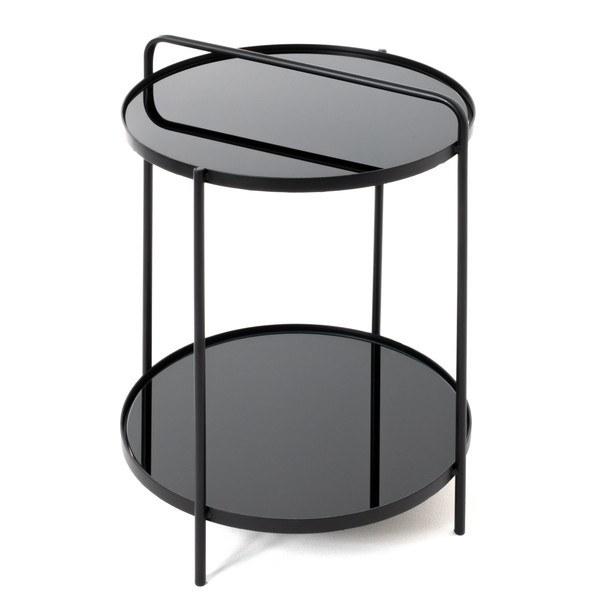 Sconto Odkládací stolek SPRINGFIELD černá, ocel/sklo - nábytek SCONTO nábytek.cz