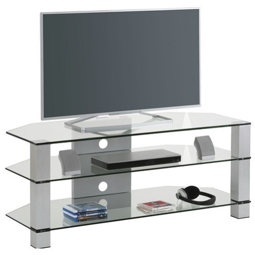 TV stolek STAR šedá/sklo 1