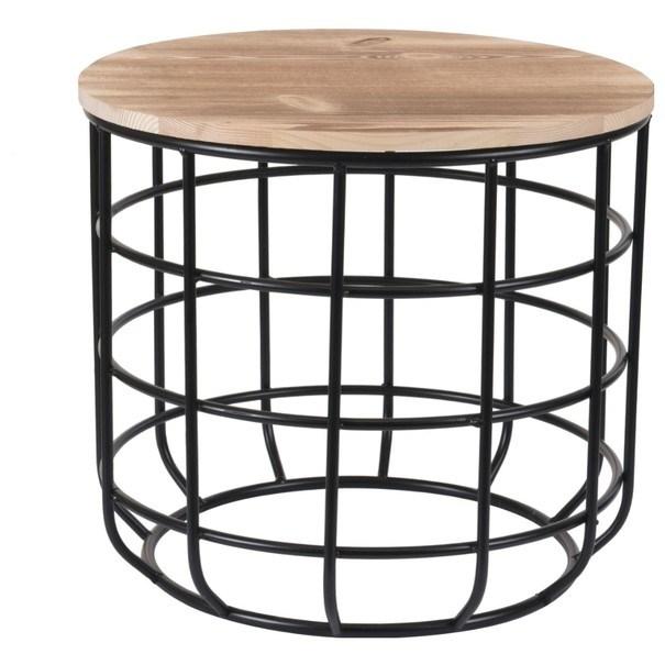 Přístavný stolek STEEL 1 přírodní 1