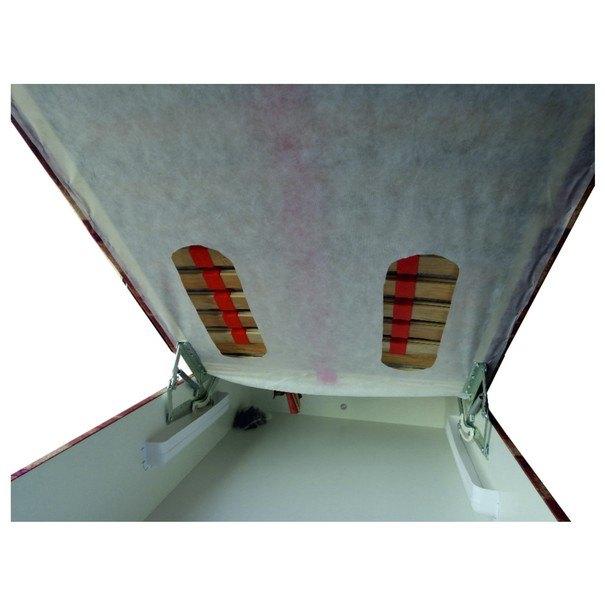 Polohovací válenda STEFI hnědá/vícebarevná, 90x200 cm 3
