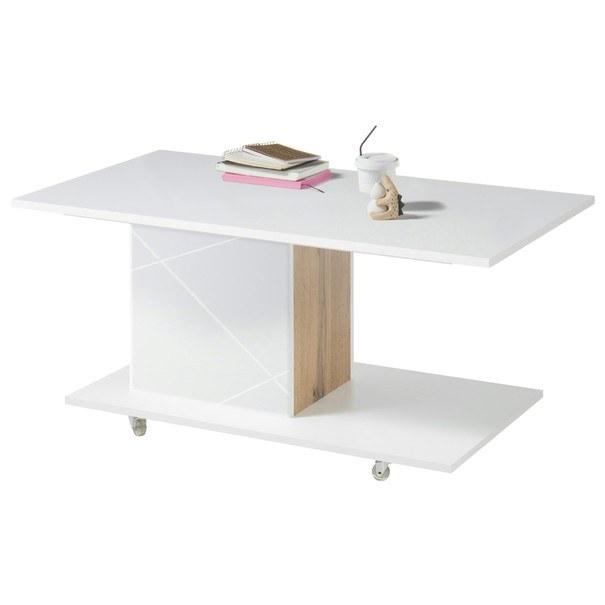 Konferenční stolek STORM bílá/dub divoký 3