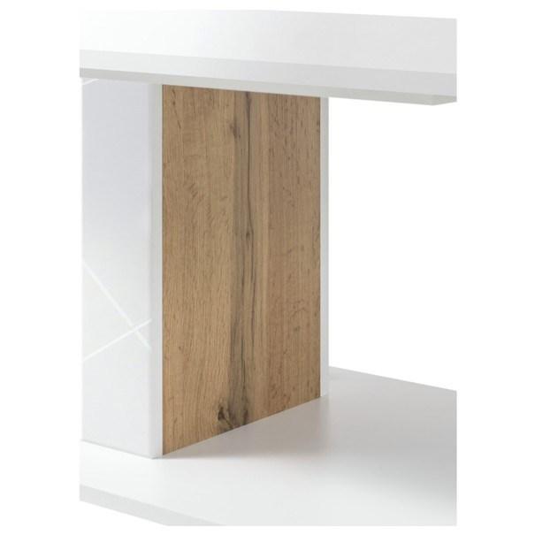 Konferenční stolek STORM bílá/dub divoký 4