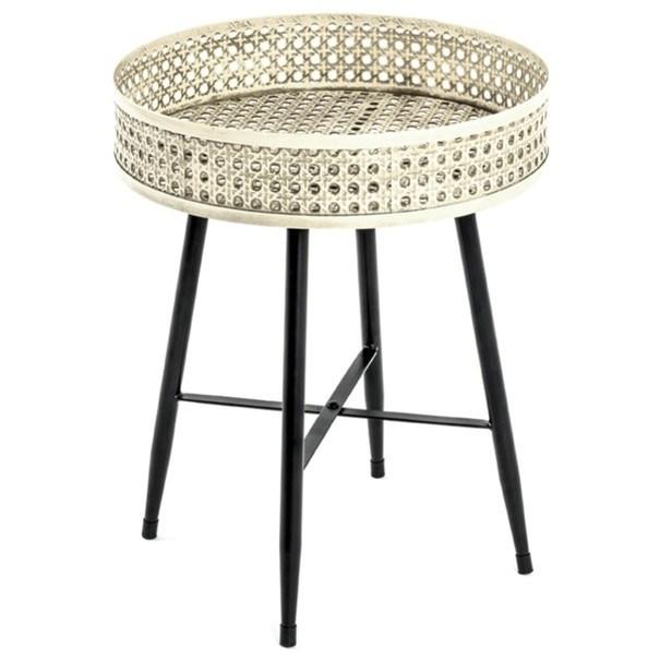 Sconto Přístavní stolek TABAGO ø 38 cm - nábytek SCONTOnábytek.cz