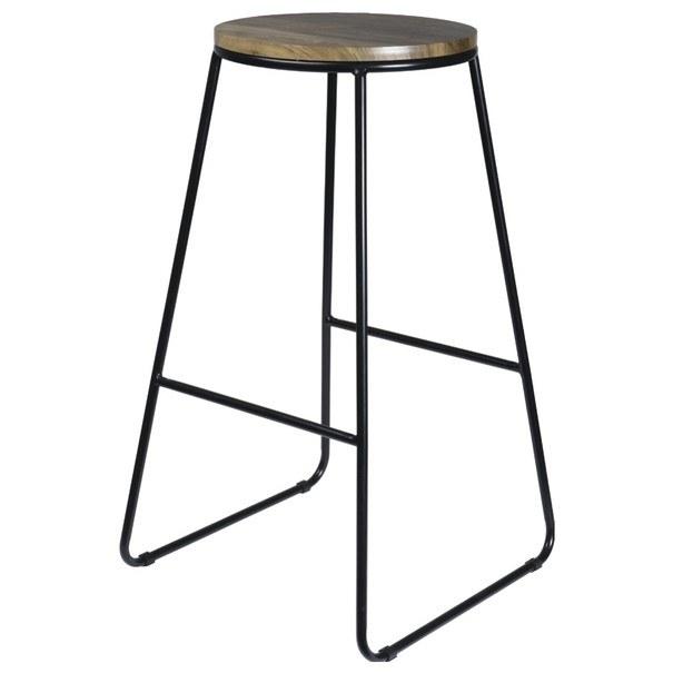 Barová židle TANGO přírodní/černá 1