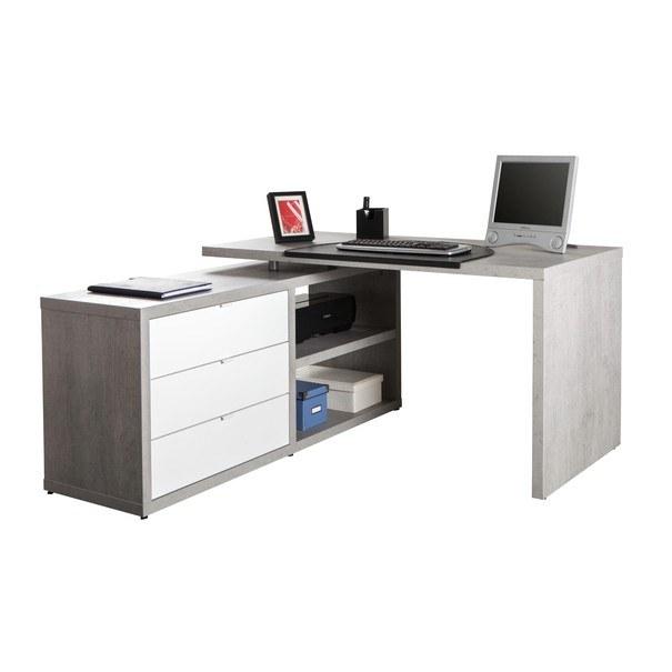 Psací stůl TICO SR0739K/561 beton/bílá 1