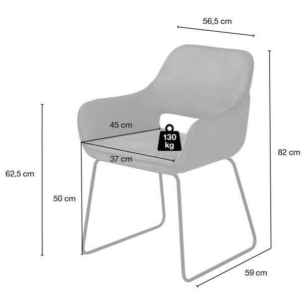 Jídelní židle     TILL šedá 9