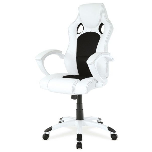 Kancelářská židle TIMO bílá/černá 1
