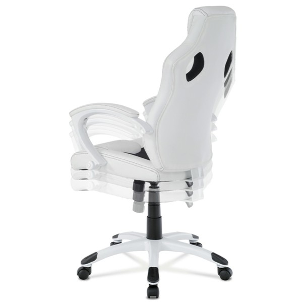 Kancelářská židle TIMO bílá/černá 5