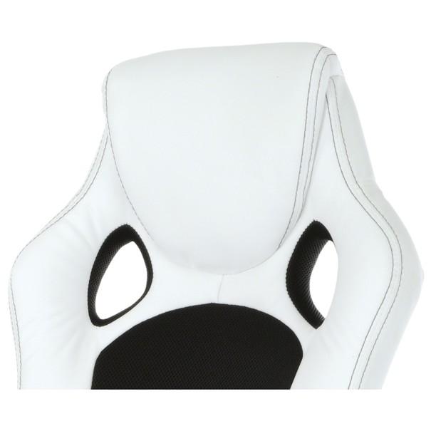 Kancelářská židle TIMO bílá/černá 7