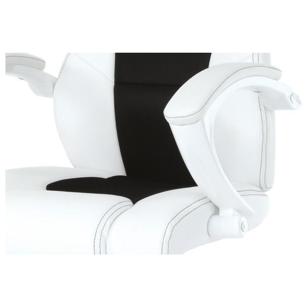 Kancelářská židle TIMO bílá/černá 8