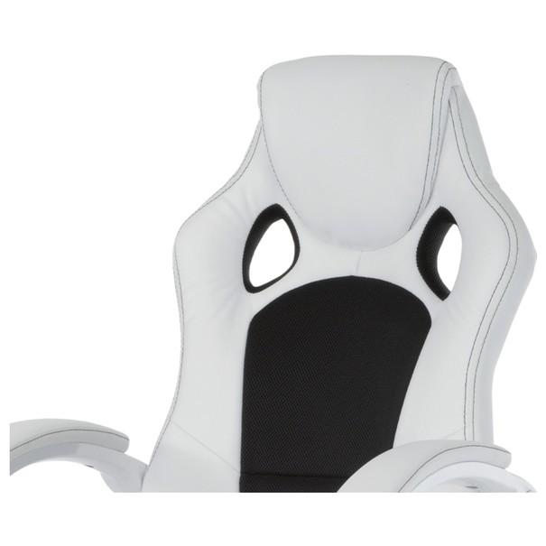 Kancelářská židle TIMO bílá/černá 9