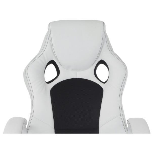 Kancelářská židle TIMO bílá/černá 11