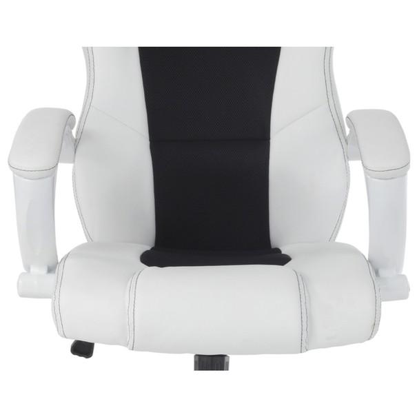 Kancelářská židle TIMO bílá/černá 12