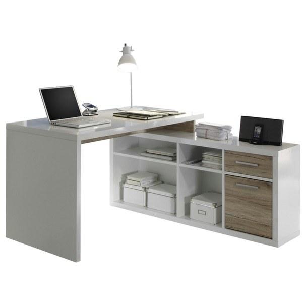 E-shop Rohový psací stůl TOKYO dub sanremo/bílá