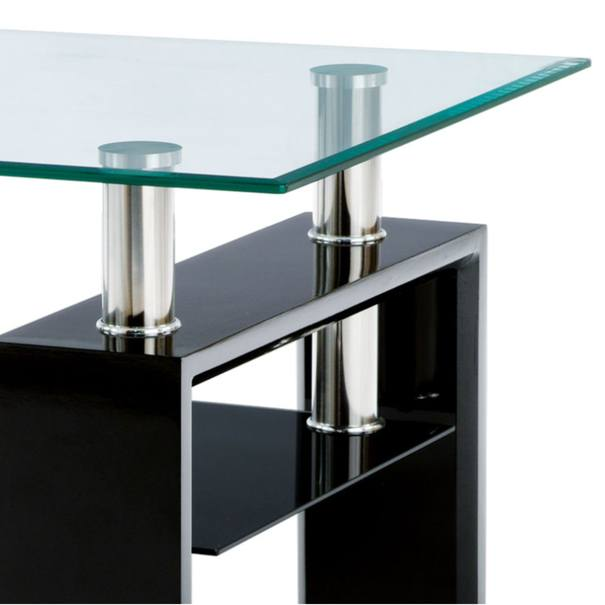 Konferenčný stolík TOLEDO čierna/sklo 2