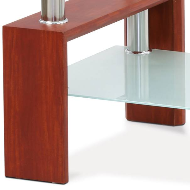 Konferenčný stolík TOLEDO sklo/čerešňa/kov 3