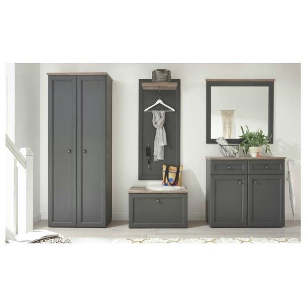 Zrcadlo TOSKANA šedá/timber wood 2
