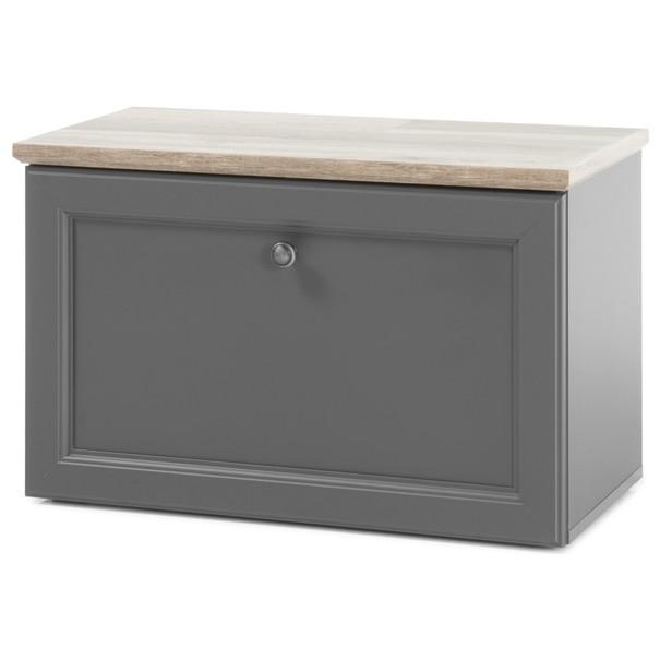 Botníková lavice TOSKANA šedá/timber wood 1