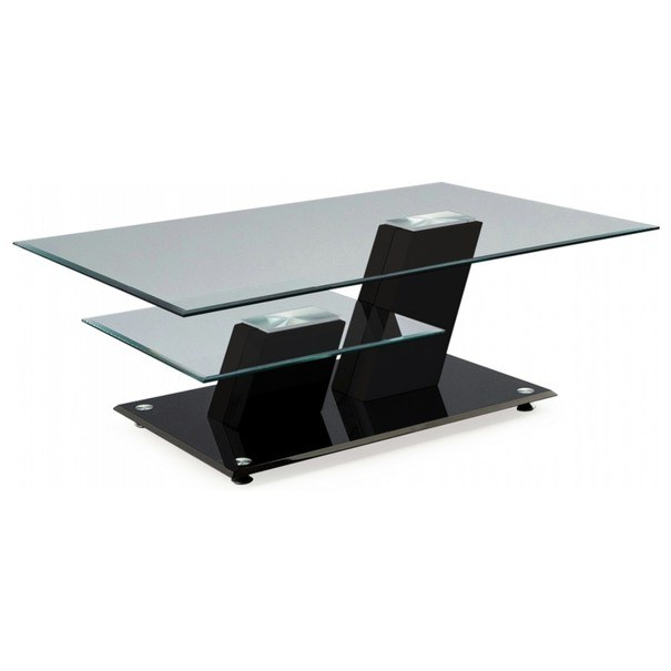 Konferenční stolek TRIESTE sklo/černá vysoký lesk 1