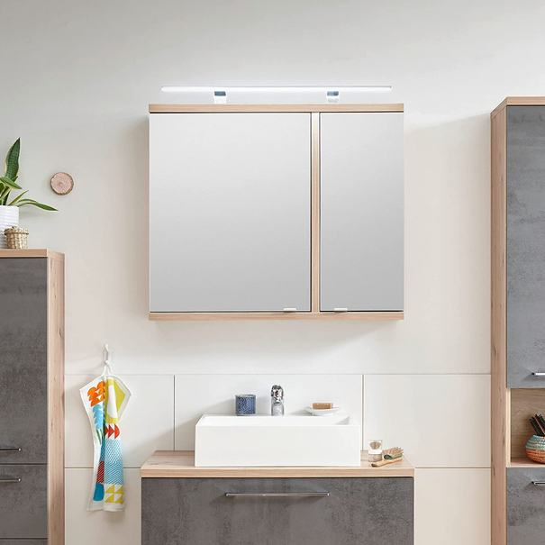 Zrcadlová skříňka  TROJA dub artisan 4