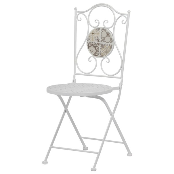 Sconto Zahradní židle US1001 bílá/mozaika - nábytek SCONTO nábytek.cz
