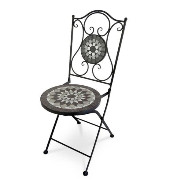 Sconto Zahradní židle US1007 černá/mozaika - nábytek SCONTOnábytek.cz