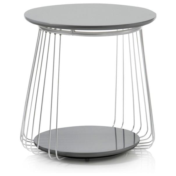 Sconto Přístavný stolek VENUTO černá, 50 cm - nábytek SCONTOnábytek.cz
