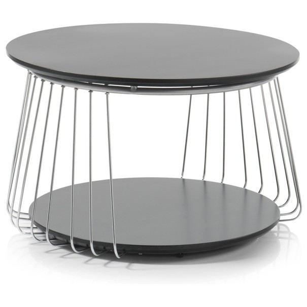 Sconto Přístavný stolek VENUTO černá, 70 cm - nábytek SCONTOnábytek.cz