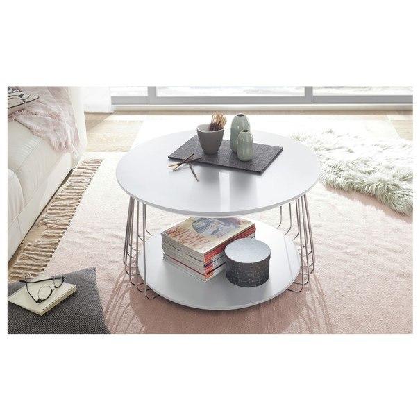Prístavný stolík VENUTO biela, 70 cm 2