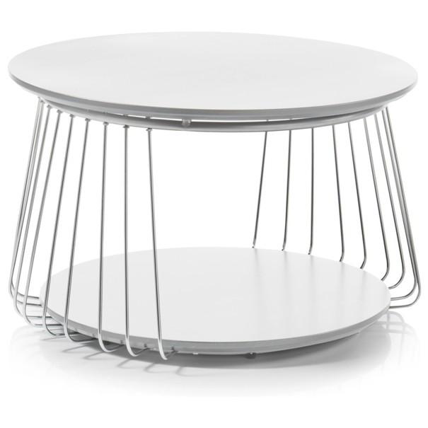 Prístavný stolík VENUTO biela, 70 cm 3