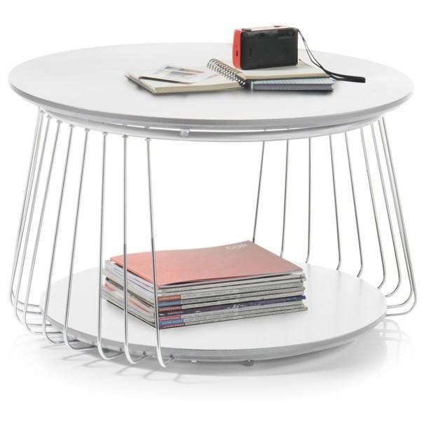 Prístavný stolík VENUTO biela, 70 cm 4